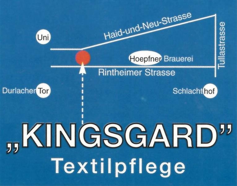 Anfahrt Kingsgard Textilreinigung Karlsruhe